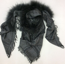 Mala Alisha Alisa Pelstørklæde i black
