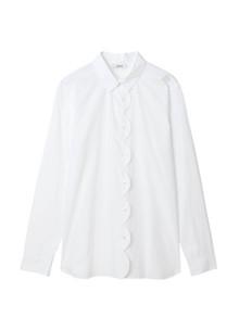 Ganni F2814 Olayan Skjorte i hvid
