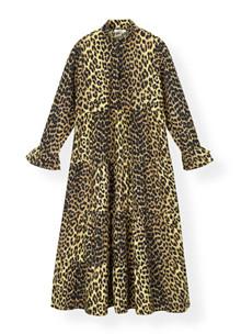 Ganni F3408 kjole i leopard