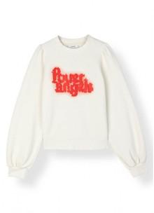 Ganni T2107 Lott Isoli sweatshirt i off white