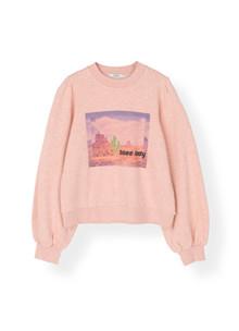 Ganni T2207 Isoli Sweatshirt i lyserød