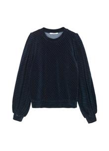 Ganni T2216 Velvet Jersey sweatshirt i navy