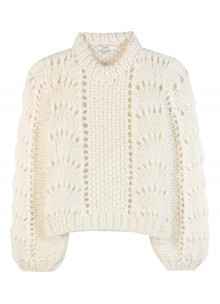 Ganni The Julliard Mohair strik i off white