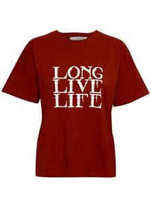 Gestuz Live T-shirt i rød
