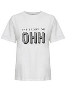 Gestuz Ohh Tee T-shirt i hvid