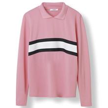 Ganni Dubois Polo bluse i pink