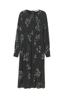 Ganni Rometty Georgette mididress kjole i sort
