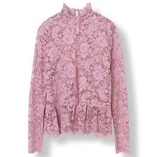 Ganni Flynn Lace bluse i pink