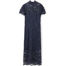 Ganni Flynn Lace kjole i navy