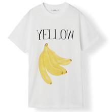 Ganni Harway Banana t-shirt i hvid