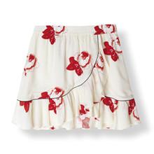 Ganni Harley Crepe Nederdel i hvid