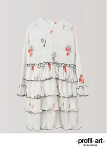 Ganni Lowell kjole i creme m. print