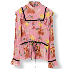 Ganni Marceau Georgette bluse i pink
