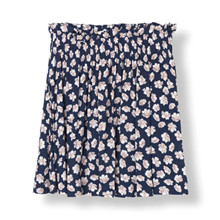 Ganni Montrose Crepe mini skirt  i navy