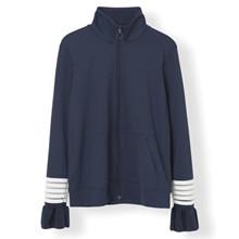 Ganni Presbourg bluse i navy