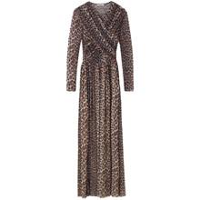 Ganni Tilden Mesh T1950 Maxidress kjole i leopard
