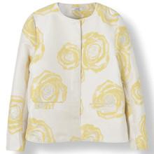 Ganni Turenne Jacquard jakke i hvid