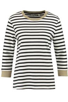 Garcia P80261 stribet sweatshirt i sort/hvid