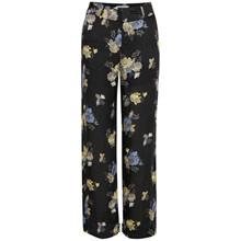 Gestuz Aia bukser i sort m. blomster