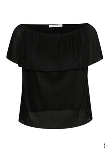 Gestuz Zenzi off shoulder top i sort