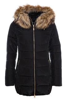 Hollies Tribeca dun jakke i sort