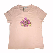 Neo Noir Lotus t-shirt i lyserød