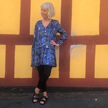 EMM Copenhagen Python kjole i blå