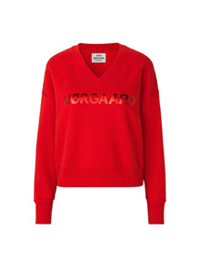 Mads Nørgaard Tilvina v. logo Organic sweatshirt i rød