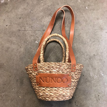 Núnoo lille Beach Shopper i Natur