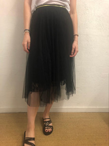EMM Copenhagen Celine tyl nederdel i sort