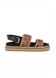 Ivylee Sarah Chunky Flatbed sandal i leo