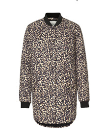 Global Funk Even jakke i leopard