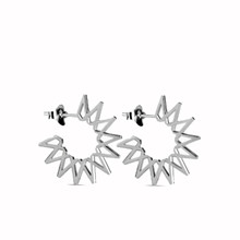 Jane Kønig lille Sun øreringe i sølv