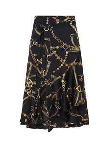 Karmamia Black Vintage Wrap nederdel i sort