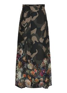 Karmamia flower camou wrapskirt nederdel i grøn