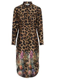 Karmamia Harper flower leo kjole i brun