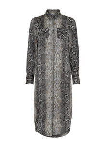 Karmamia Harper Snake skjorte kjole i grå