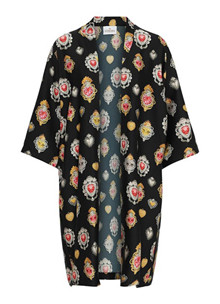 Karmamia Love kimono i sort