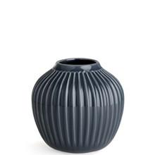 Kähler Hammershøi bred vase i antracitgrå