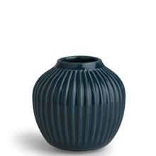 Kähler Hammershøi bred vase i petroleumsblå