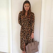 Karmamia Leopard Wrap dress