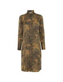 Karmamia Okker Forest skjorte kjole i brun