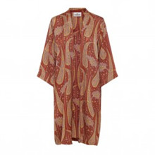 Karmamia Sienna Paisley kimono i rødbrun