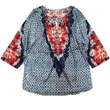 Kudibal Natali Vega tunic bluse i blå
