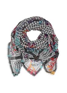 Lala Berlin Cube Vaia Loght tørklæde i mønstret