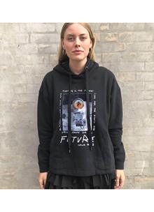 Lala Berlin Quinn Astronaut Sweatshirt i sort