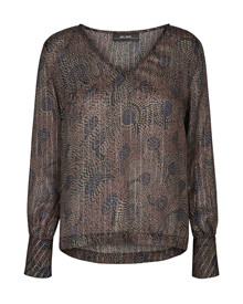 Mos Mosh Elea Peacock bluse i mønsteret