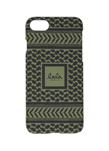 Lala Berlin Kufiya Scribbled iPhone cover i army grøn
