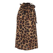 Karmamia Leopard Ruffle tie top i leo