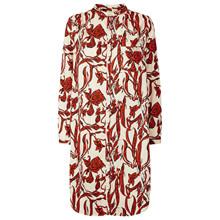 Lollys Laundry Boa skjorte i creme m. rød mønster